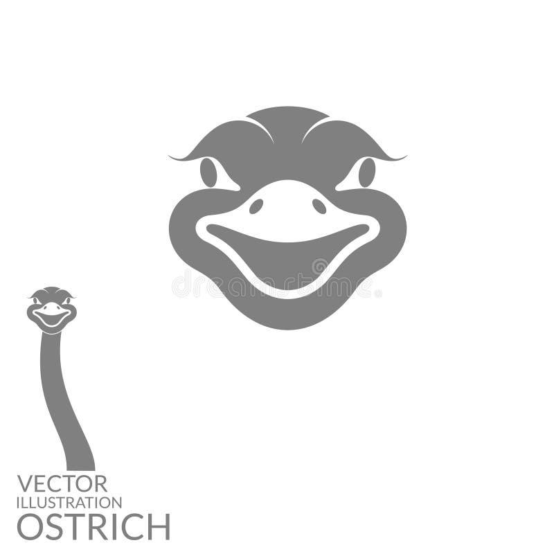 Struisvogel vector illustratie