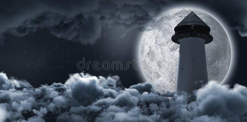 Struktur aufwärts die Wolke, die den Mond versteckt lizenzfreie abbildung