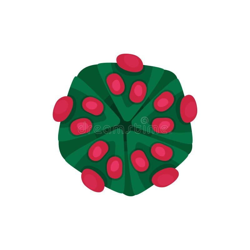 Struktur av den farliga viruset Farlig mikroorganism Begrepp av den smittsamma sjukdomen Plan vektorbeståndsdel för läkarundersök vektor illustrationer