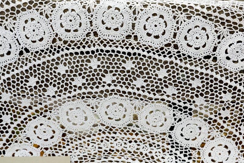 Struktur av snöra åthandarbetet arkivbild