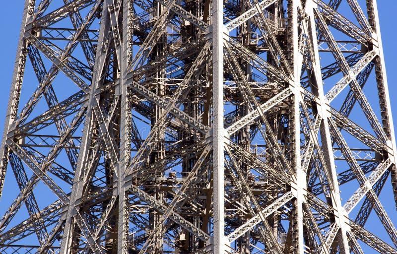 Struktur av stål av det Eiffel tornet royaltyfri foto
