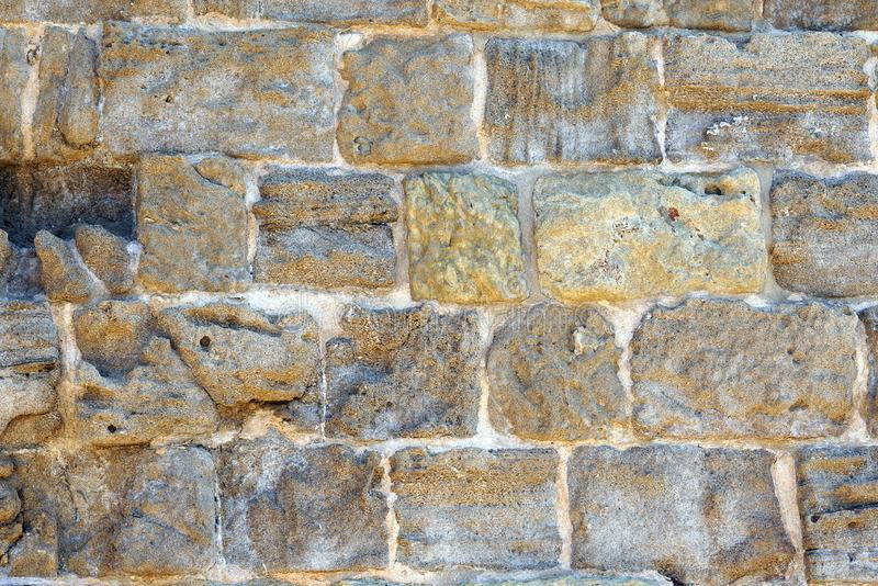 Struktur av väggarna av den Koules fästningen i Kreta royaltyfria bilder