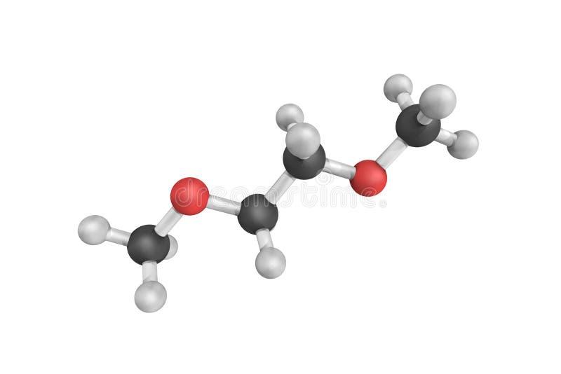 Struktur 3d des Dimethylethers DME, des alias methoxymetha vektor abbildung