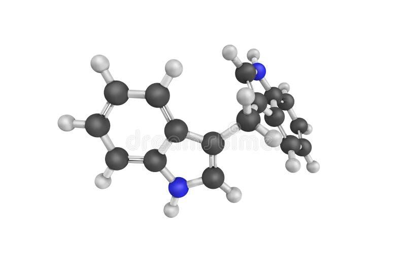 Struktur 3d von ² 3,3†- Diindolylmethane (SCHWACH), ein Mittel leiten ab lizenzfreie abbildung