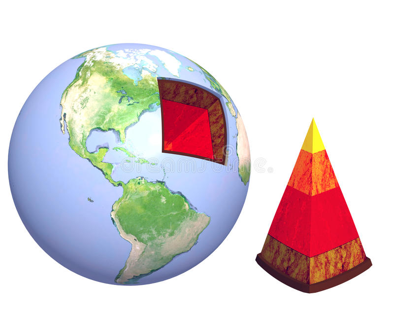 Struktur der Erde stock abbildung