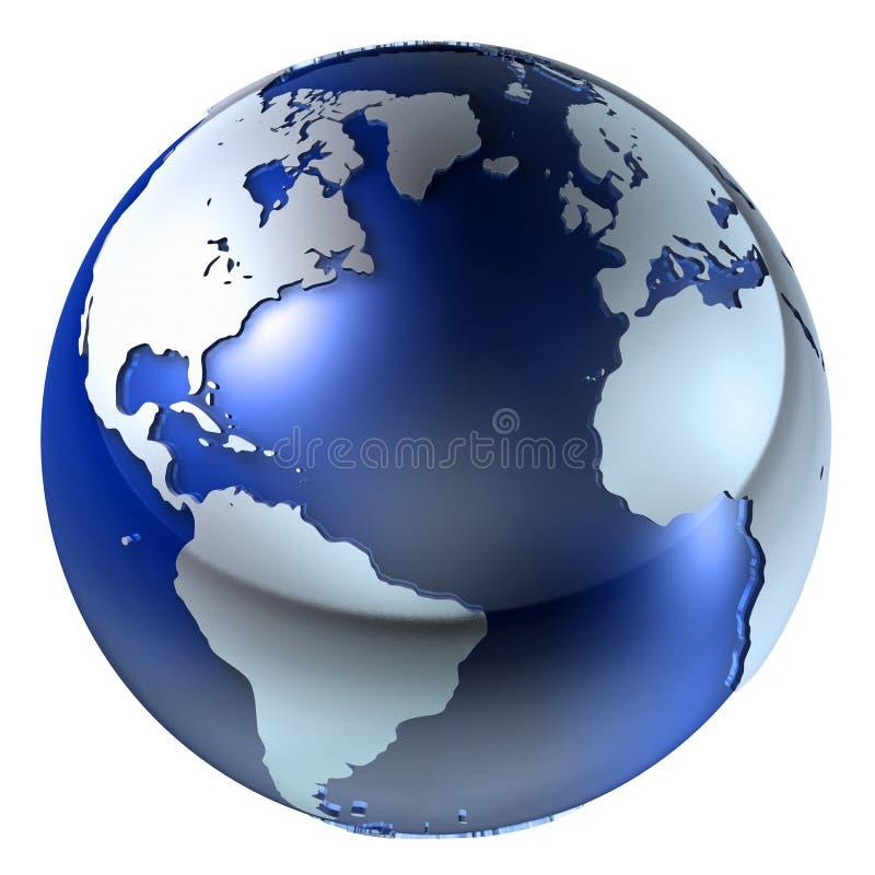 Struktur der Erde-3d stock abbildung