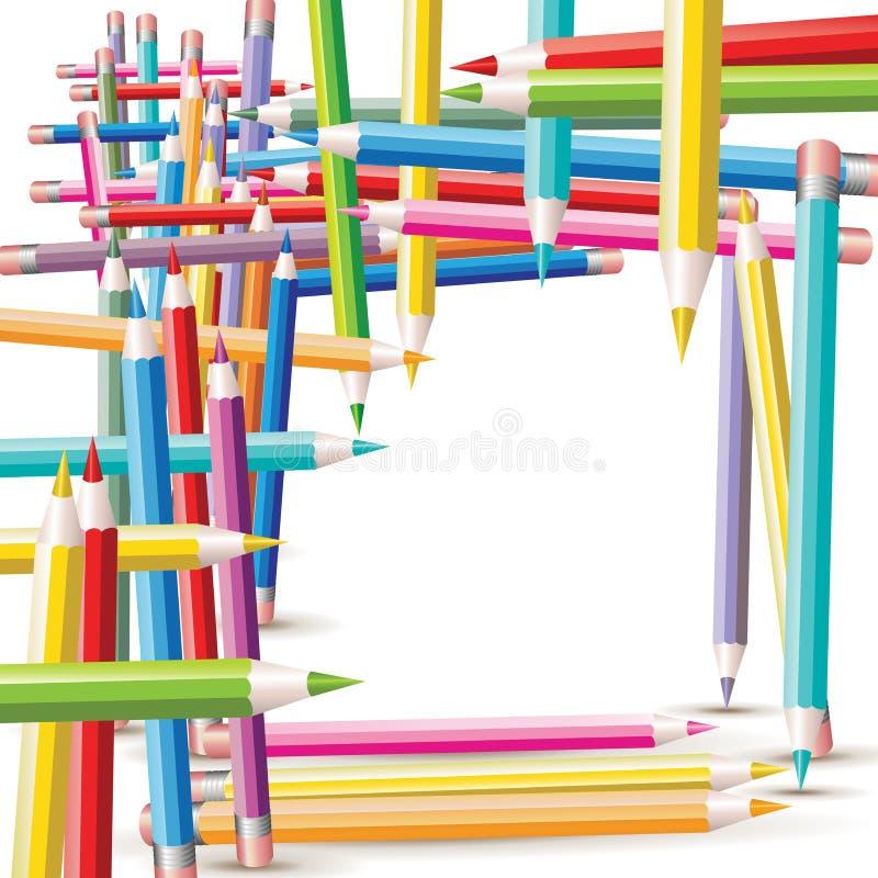 Download Struktur Der Farbigen Bleistifte Vektor Abbildung - Illustration von stapel, zeichnung: 26370486