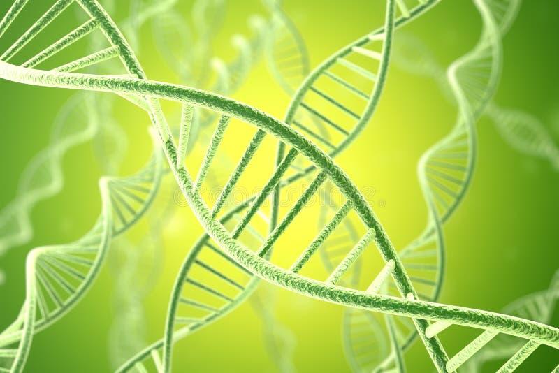 Struktur för Concetp digital illustrationDNA framförande 3d arkivfoto