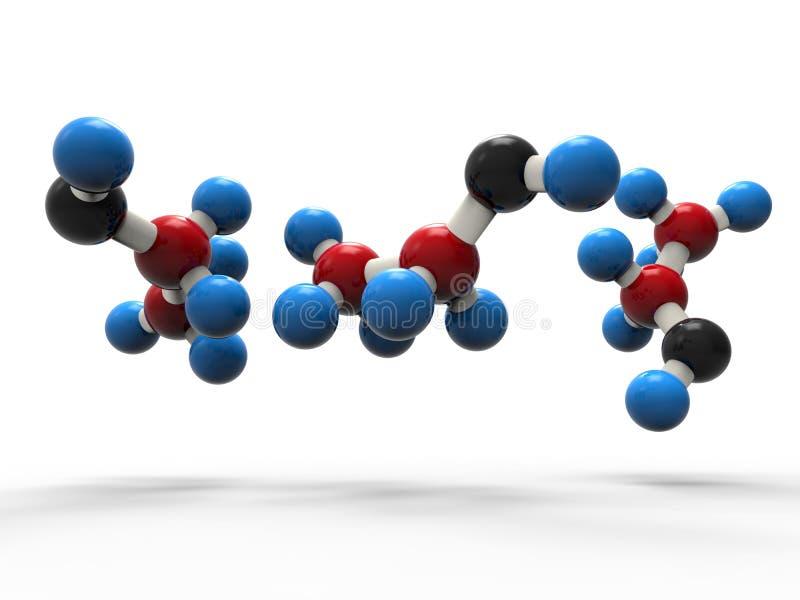 struktur för molekyl som 3D isoleras med skuggor royaltyfri illustrationer