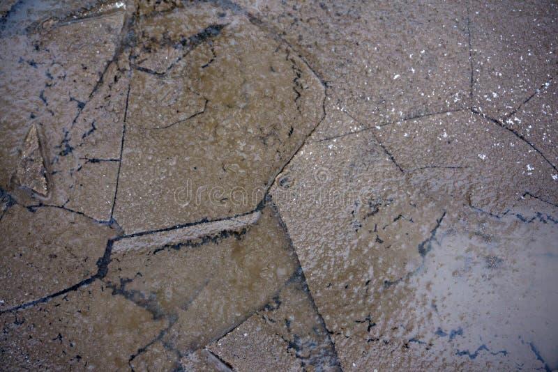 Struktur för snö för isbakgrund textur skrapad hal, arkivfoto