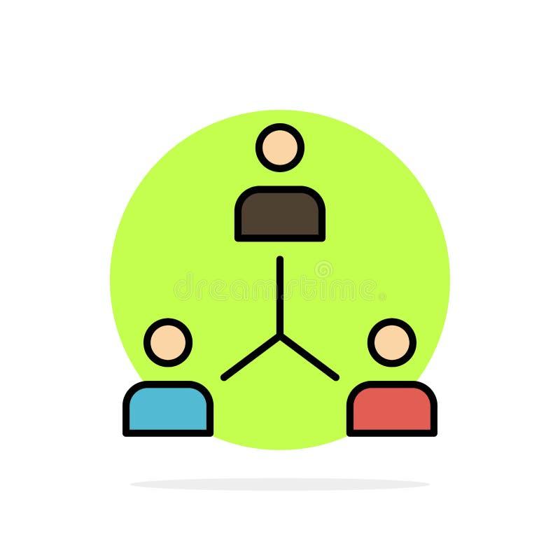 Struktur företag, samarbete, grupp, hierarki, folk, Team Abstract Circle Background Flat färgsymbol royaltyfri illustrationer