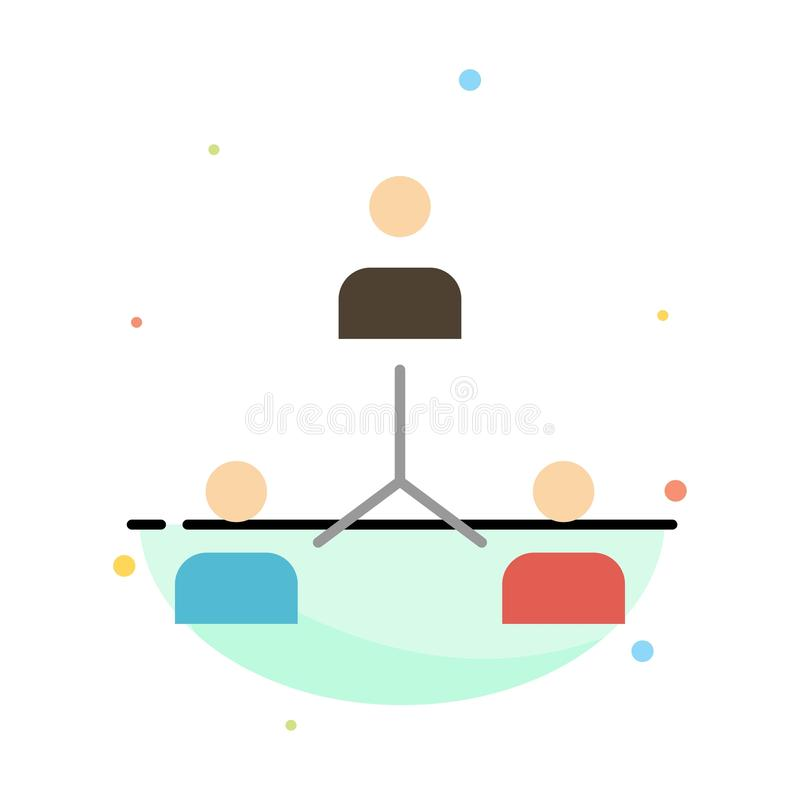 Struktur företag, samarbete, grupp, hierarki, folk, Team Abstract Flat Color Icon mall vektor illustrationer