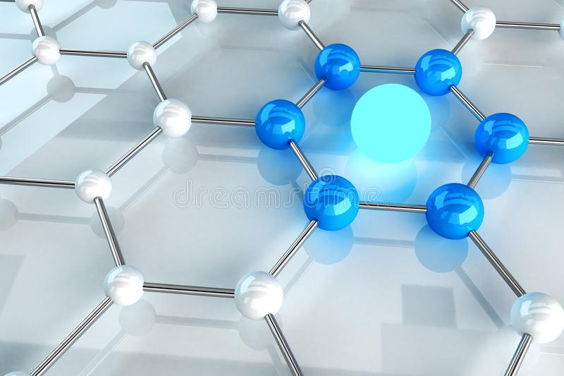 Struktur-Link-Konzept lizenzfreie abbildung