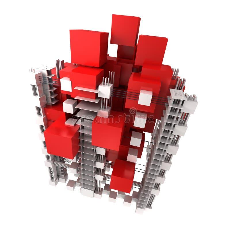 Download Struktur In Rotem Und In Weißem Stock Abbildung - Illustration von block, weiß: 12200763