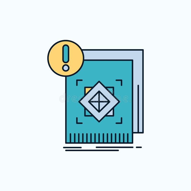 Struktur, Standard, Infrastruktur, Informationen, wachsame flache Ikone gr?nes und gelbes Zeichen und Symbole f?r Website und Mob vektor abbildung