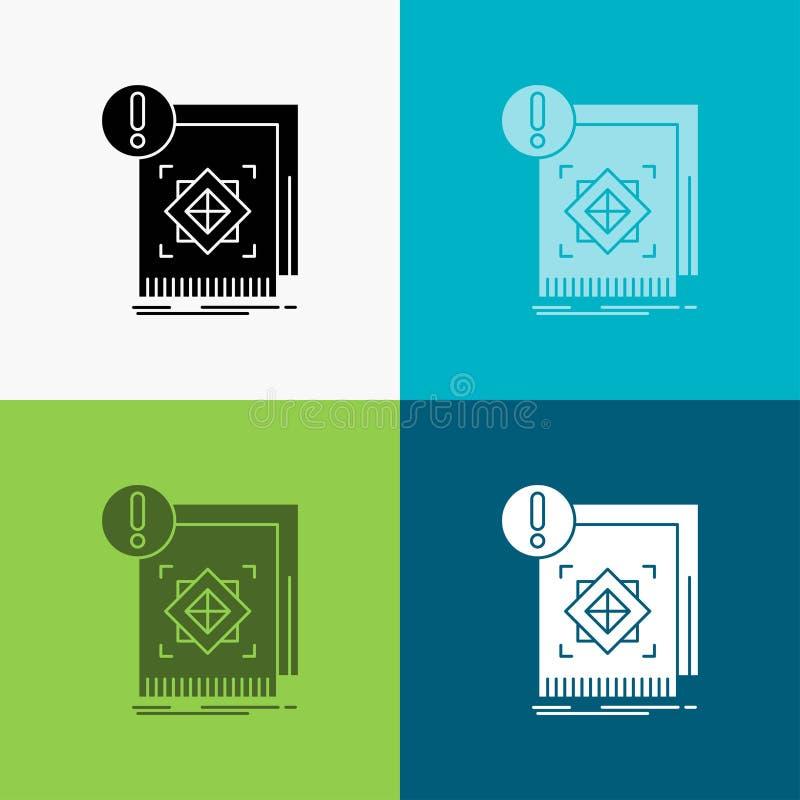 Struktur, Standard, Infrastruktur, Informationen, wachsame Ikone über verschiedenem Hintergrund Glyphartdesign, bestimmt f?r Netz vektor abbildung