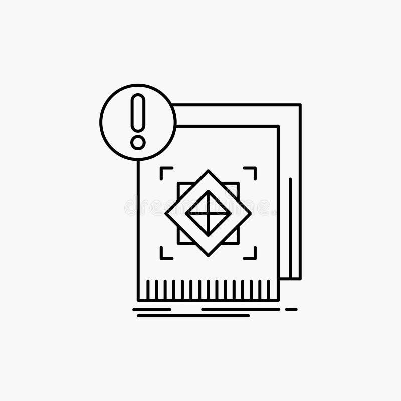 Struktur, Standard, Infrastruktur, Informationen, wachsame Linie Ikone Vektor lokalisierte Illustration lizenzfreie abbildung