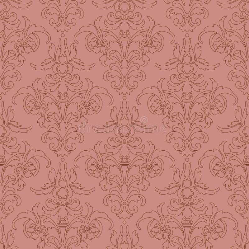 struktura abstrakcyjna Ilustracja z sztuka kwiatem na różowym tle obraz stock
