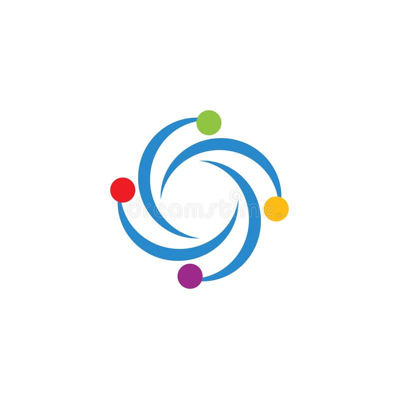 Struktura atomu logo wektor ilustracji