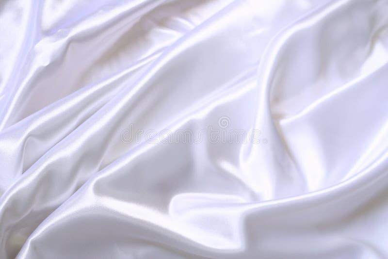 struktura biały jedwab obraz stock