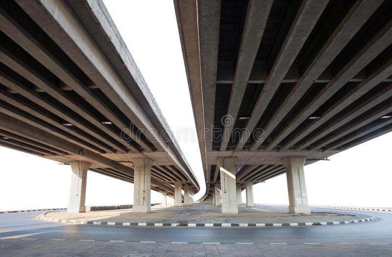 Struktura cementu mosta odosobniony biały tło obrazy royalty free