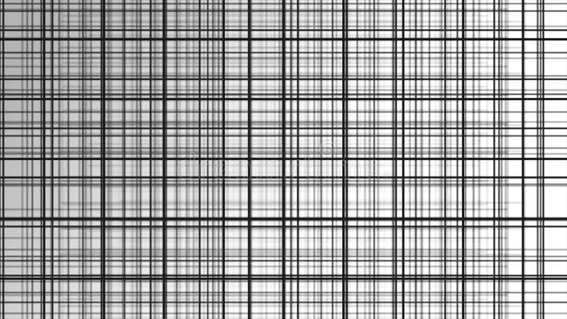 struktura 3 d Czarny i biały tło w klatce dla sztandarów i układów Wolumetryczny tło z bokeh skutkiem ilustracji