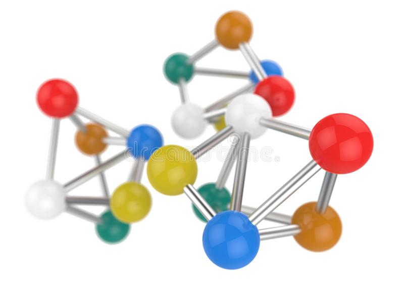 struktura molekularna obrazy royalty free
