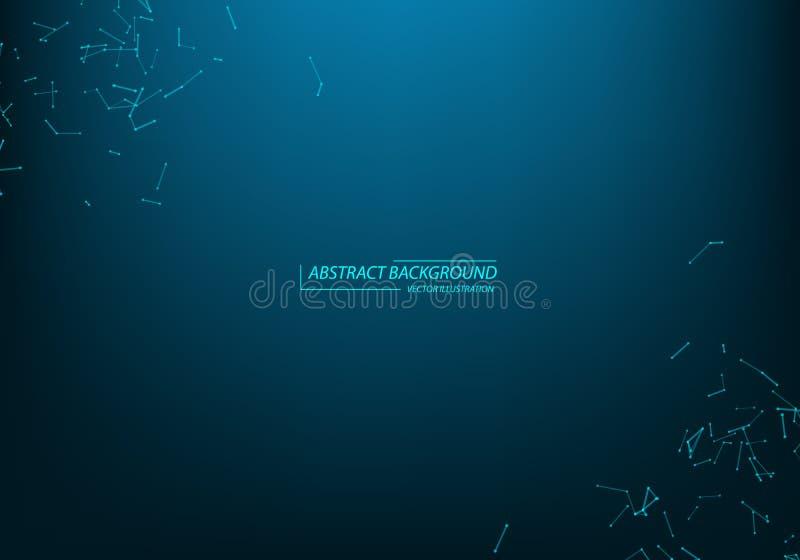 struktura molekularna Zwi?zane linie z kropkami Chemia, medycyna, nauka, technologia geometryczny abstrakcjonistyczny t?o poligon royalty ilustracja
