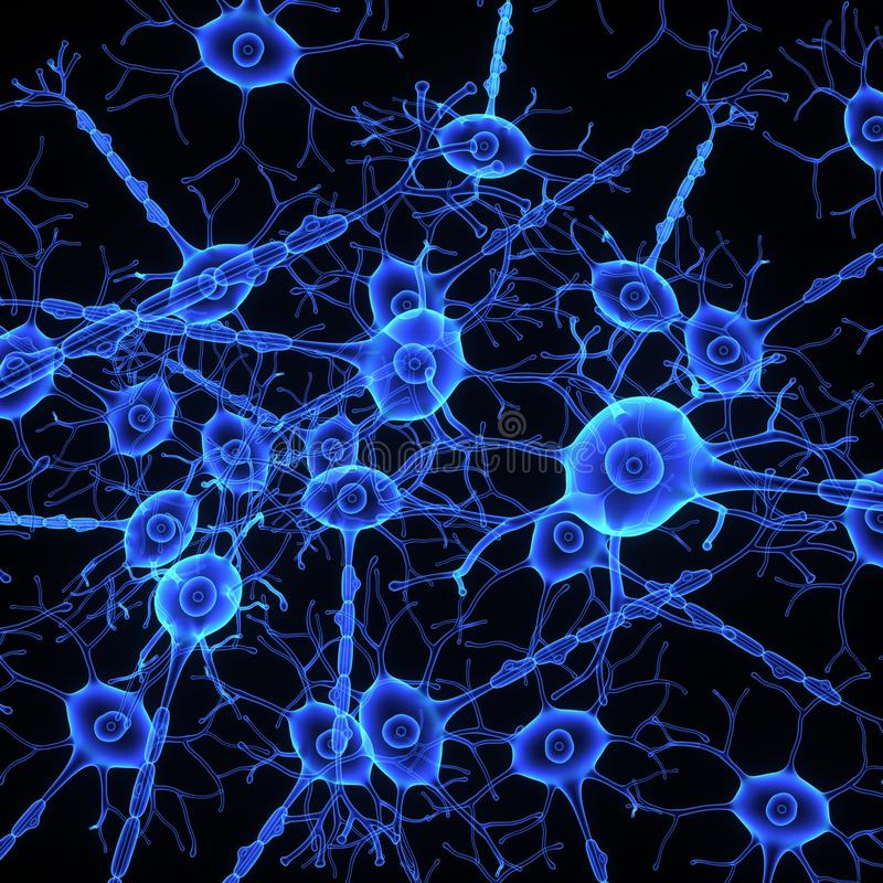 Struktura neuron royalty ilustracja