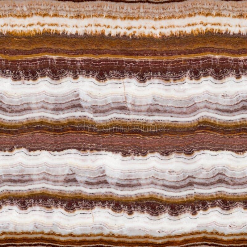 Struktura różnobarwny onyks z naturalnym pęknięciem Bezszwowy kwadratowy tło, dachówkowy przygotowywający obraz royalty free