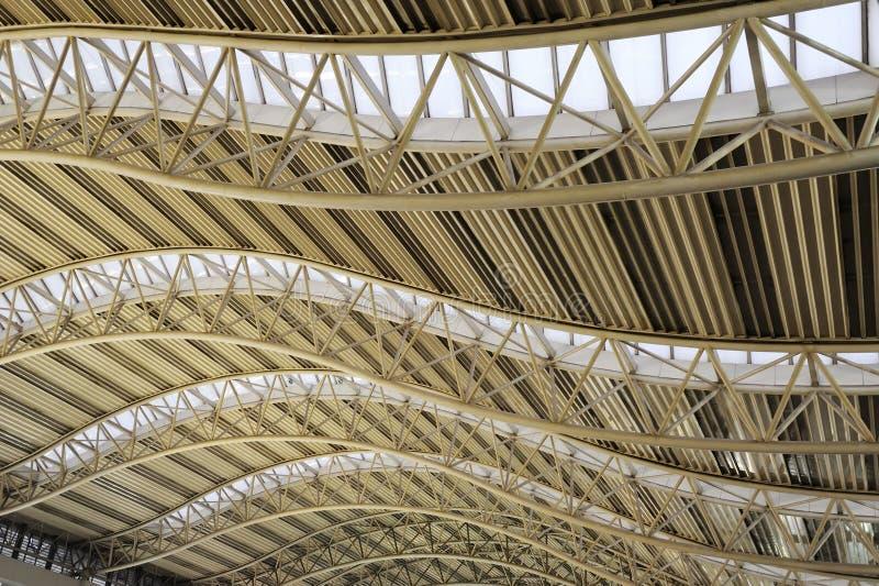 Struktura stalowy dach obraz stock