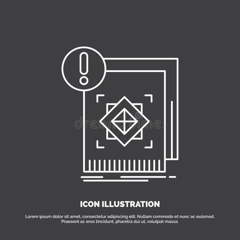struktura, standard, infrastruktura, informacja, ra?na ikona Kreskowy wektorowy symbol dla UI, UX, strona internetowa i wisz?cej  ilustracja wektor