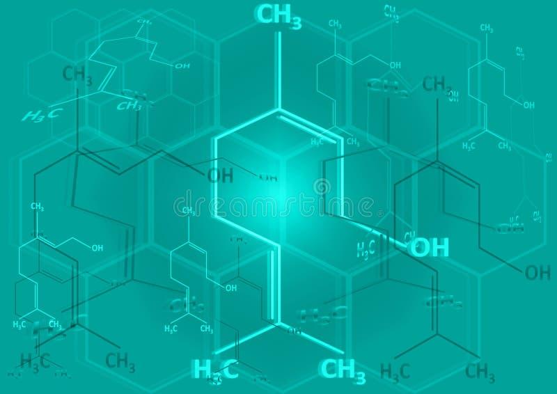 strukturell ande för chemical formel vektor illustrationer