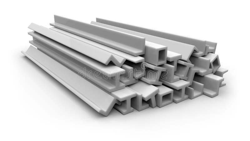 Strukturella plastic former stock illustrationer