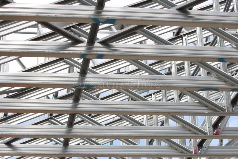 Strukturelle Stahlwerkdetails lizenzfreie stockfotografie