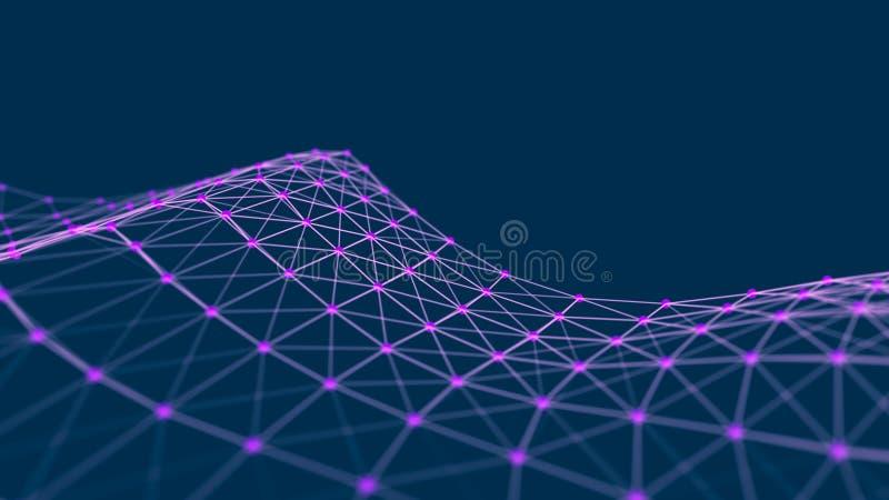 Strukturelle Verbindung von Informationen Daten?bertragung in der Network Connection Abstrakter Datenhintergrund Wiedergabe 3d vektor abbildung