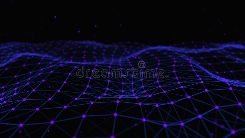 Strukturelle Verbindung von Informationen Daten?bertragung in der Network Connection Abstrakter Datenhintergrund Wiedergabe 3d stock abbildung