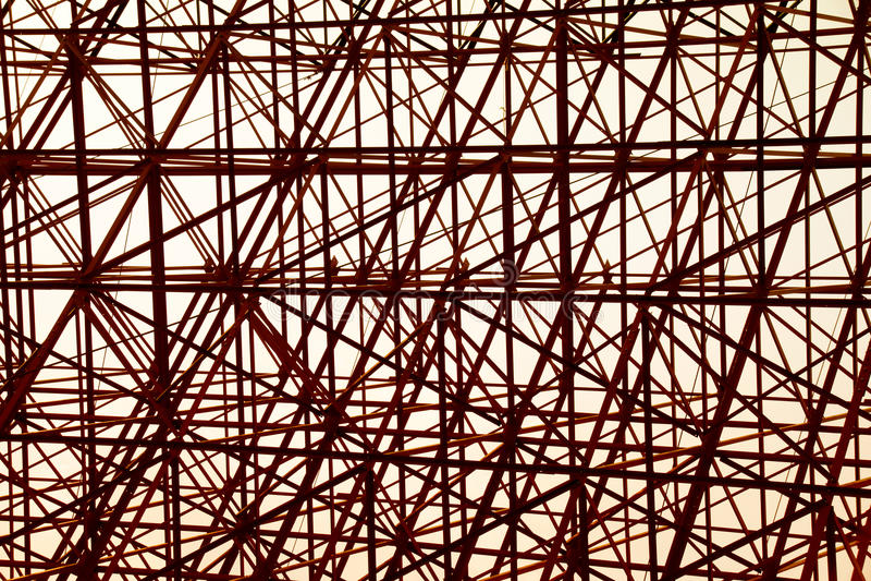 Struktureller orange Stahlquerbauzusammenfassungshintergrund lizenzfreie abbildung
