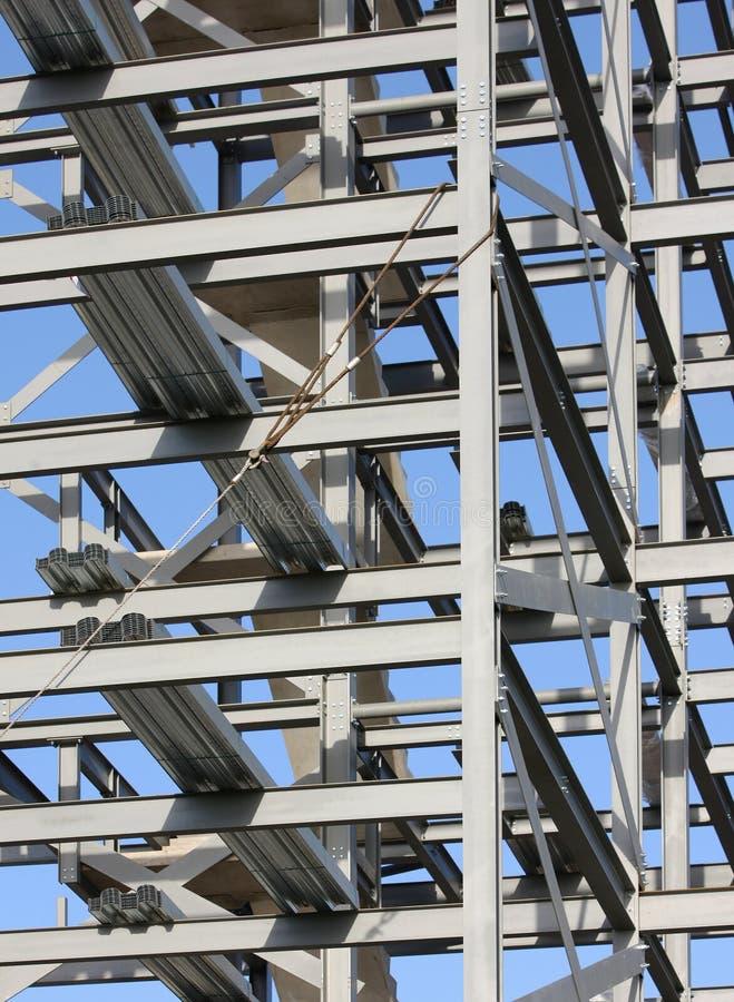 Struktureller Stahlwerk-Aufbau stockbilder