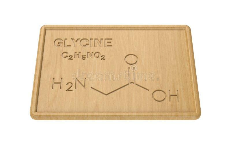 Strukturelles Modell des Glycins lizenzfreie abbildung
