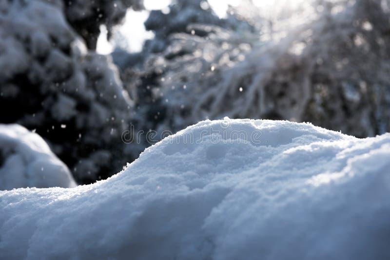 Strukturen av snö arkivbild