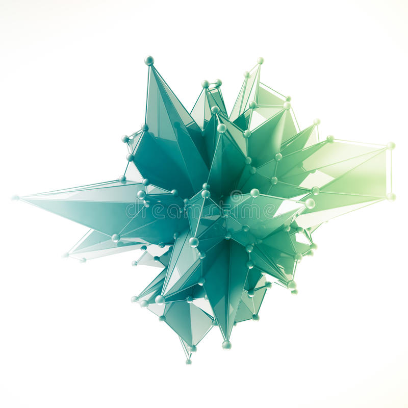 Strukturen 3d framför datordiagram CG Crystal illustration En från uppsättningen Mer i min portfölj arkivfoto