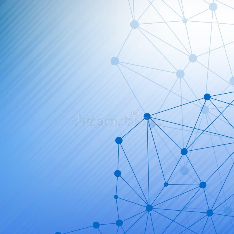 Strukturera molekylen och kommunikationsDna, atomen, neurons Vetenskapsbegrepp för din design Förbindelselinjer med prickar stock illustrationer