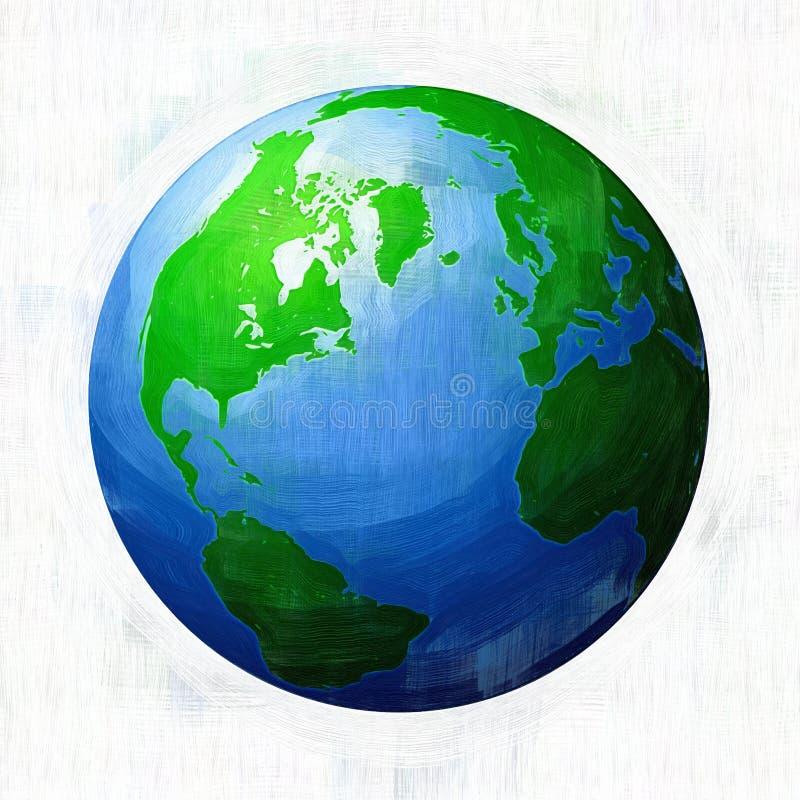 Strukturierte Erde-Abbildung stock abbildung