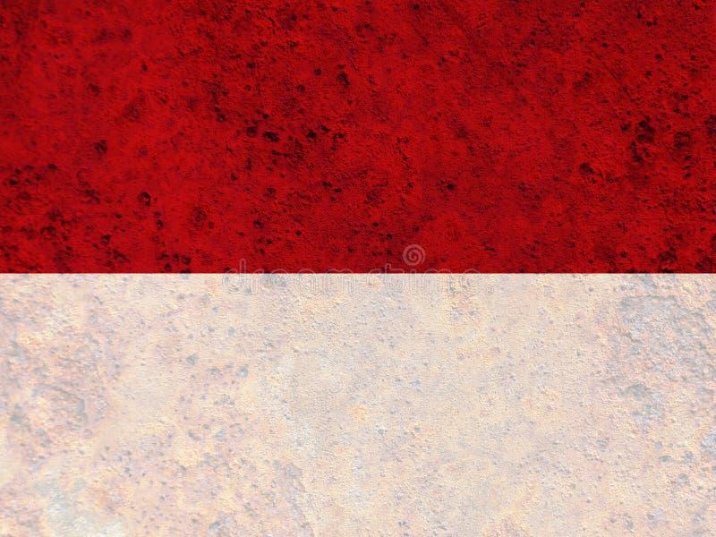Strukturierte Flagge von Indonesien in den netten Farben lizenzfreie stockbilder
