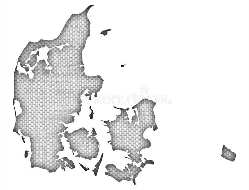 Strukturierte Karte von Dänemark stock abbildung