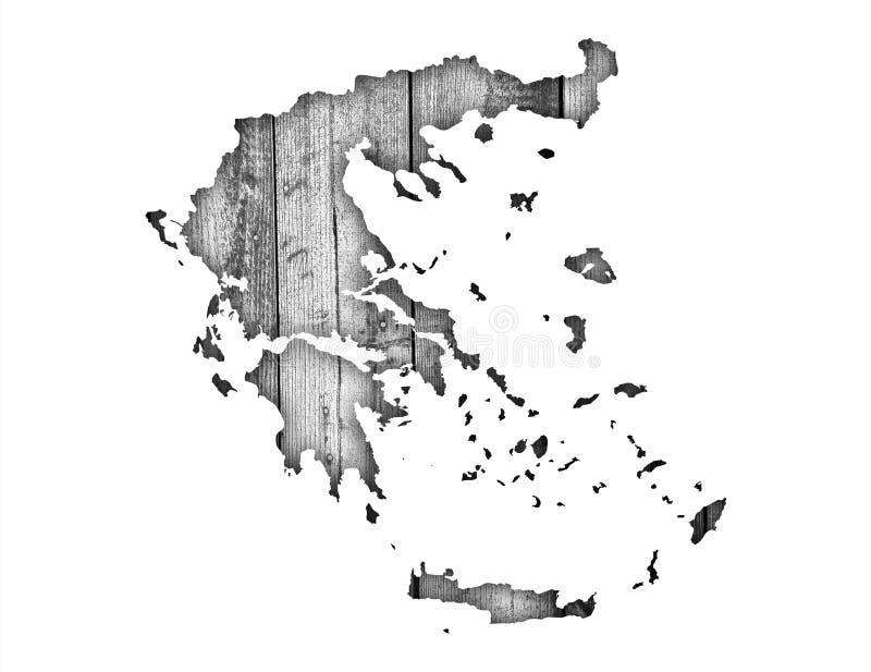 Strukturierte Karte von Griechenland in den netten Farben vektor abbildung