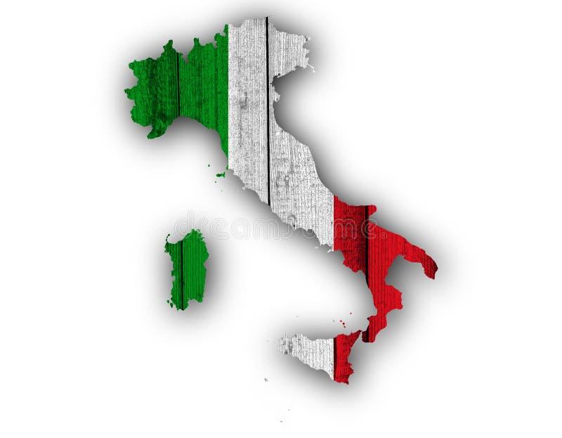 Strukturierte Karte von Itlay in den netten Farben lizenzfreie stockfotografie