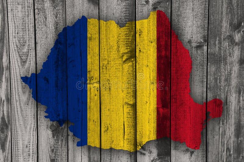 Strukturierte Karte von Rumänien in den netten Farben stock abbildung