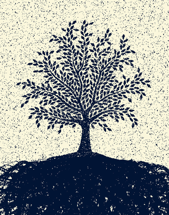 Strukturierter Baum stock abbildung